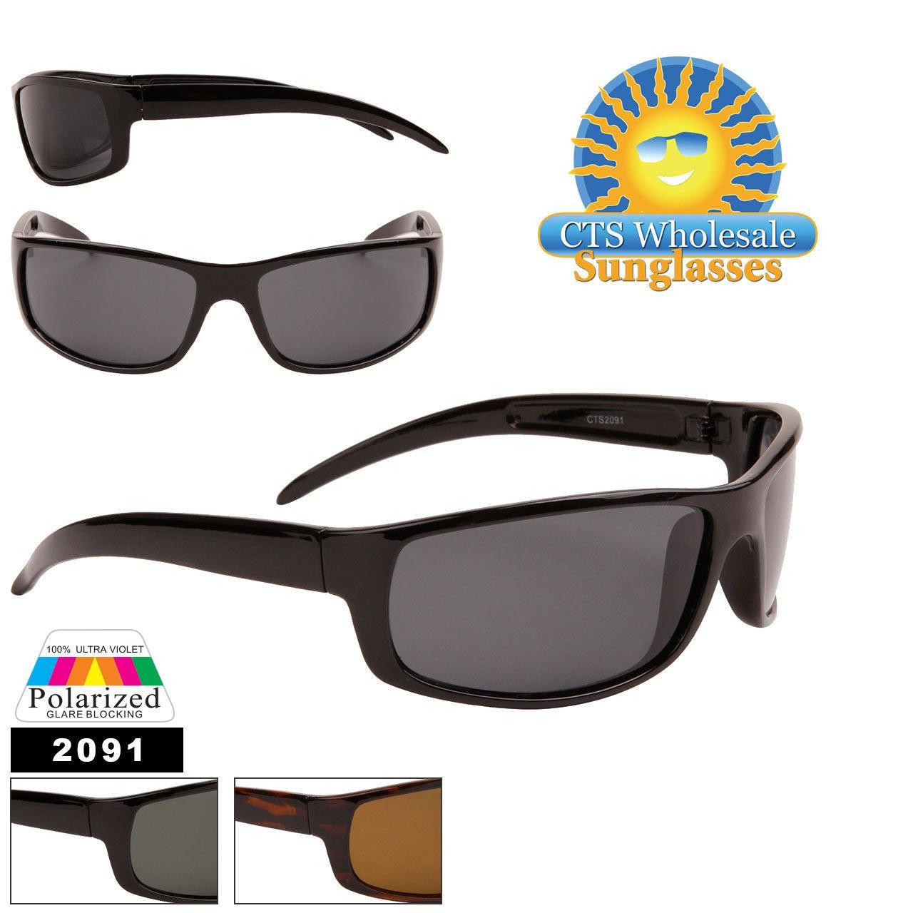 lunettes de soleil polarisantes polarisées sport verres polarisés homme femme CTS2091 (écaille/verres marron, L:135mm,H:42mm)