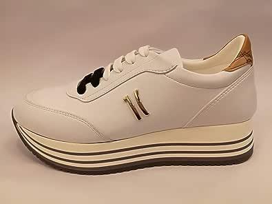 Alviero Martini Sneaker Bianco Pastello P141/578A Scarpa Donna Stringata Come Foto