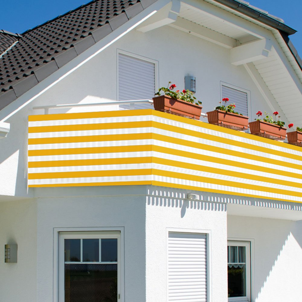 Amazon Balkonsichtschutz Sichtschutz Windschutz 600x75cm