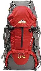 OUTERDO 50L Professionelle Erwachsene Trekkingrucksack Wanderrucksack Reiserucksack Rucksack Mit Regenabdeckung Für Outdoor Reisen Camping Bergsteiger 60 x 30 x 20 cm