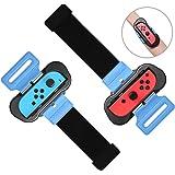 2Pezzi Just Dance 2020 2019 2021 Wrist Band per Nintendo Switch Controller, FASTSNAIL Cinturino Elastico cinturino da polso p