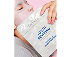 DeBelle Bio Cellulose Face SheetMask - Youth Reviving | Enriched with Hyaluronic Acid & Rosehip Seed oil for Younger Looking