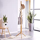 ADA Wooden Coat Rack Free Standing | with 7 Hooks | Lacquered Pine Wood | Tree Coat Rack Stand | for Coats, Hats…