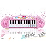 Popsugar - THPI6614P Mini Muscial Keyboard with 24 Keys for Kids, Pink