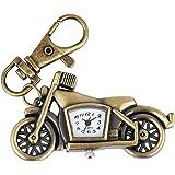 Genial Modelo de Motocicleta Llavero Anillo Reloj de Bolsillo para Hombres Mujeres Reloj Colgante de Bronce Accesorio Regalo