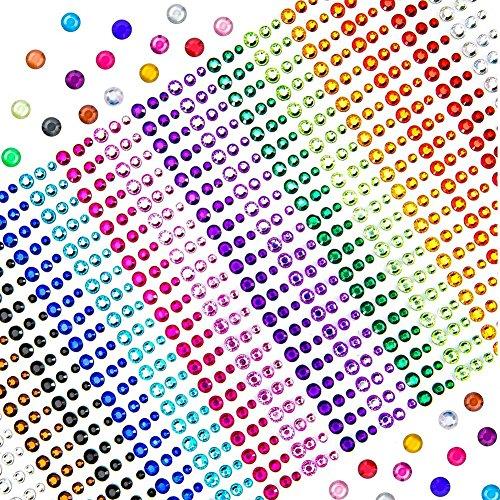 TOAOB 900 stück Strasssteine Selbstklebend Kinder Sticker 3mm 4mm 5mm für DIY Handwerk Bilderrahmen Verzieren (Für Kinder Jahre Alt Handy 5)