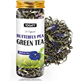 YOGAFY - Butterfly Pea Green Tea Whole Leaf | for Calmness and Antistress |100 Gram - 50 Cups |