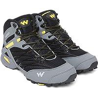 Wildcraft Men's RuNX TR Hugo Black_Grey_Yellow Trekking&Hiking Shoes (51657)