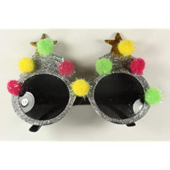 60573d1692 Christmas Novelty Christmas Tree Glittery Glasses Xmas Specs. Stocking  filler Secret Santa.