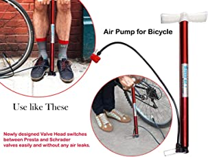 Lista High Pressure Deluxe/Strong Steel Air Pump for Bicycle, Car, Ball, Motorcycle - Inflatable Air Pump | Floor Air Pumps