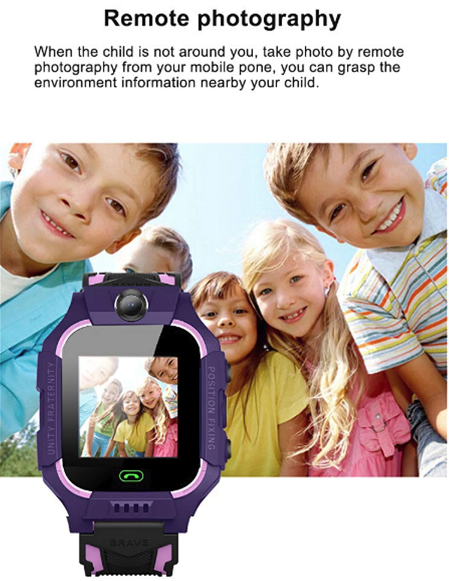 linyingdian Smartwatch Niños,Reloj Inteligente Niños con Flashlight, IP67 LBS SOS, Cámara, Smartwatch con Ranura para… 5