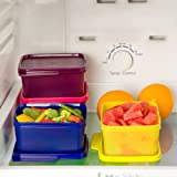 tupperware. Plastic Container - 500ml, 4 Pieces, Multicolour