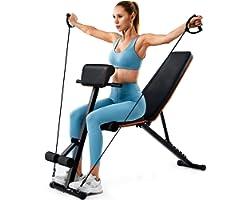 PERLECARE panca palestra, robusta panca per l'allenamento di tutto il corpo, trasportare fino a 350 kg, panca piana pieghevol