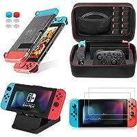 Keten 13 in 1 Nintendo Switch Kit di accessori, include Nintendo Switch Custodia da viaggio / Switch Clear Cover Case…
