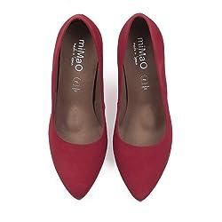 Piel En A Mimao Hechos Fie Zapatos Mujer Zapato Sal Rojo Tac Espa N ONvwm08n