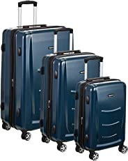 AmazonBasics Set of 3 (55 cm + 68 cm + 78 cm) Hardshell Suitcase, Navy Blue