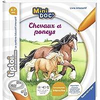 Ravensburger - Livre interactif tiptoi Mini Doc' - Les chevaux et poneys - Jeux électroniques éducatifs sans écran en…