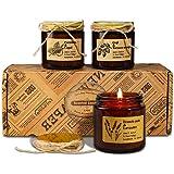 YMing Juego de Regalo de Velas Perfumadas, Cera de Soja 4.4 Oz Velas Regalo de Mujer con Aceites Ssenciales para Aromaterapia