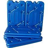 ToCi 8er Set Kühlakku mit je 400 ml | 8 Blaue Kühlelemente für die Kühltasche oder Kühlbox | extra flach