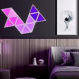 HSART Triangolo Lampada A Muro RGB Pannelli Luminosi Guidato Luce Ambientale, Controllo della Musica Tramite App, Decorazione