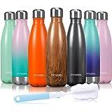 arteesol Drinkfles, roestvrij staal, thermoskan, 350/500/750 ml, dubbelwandige vacuüm BPA-vrije fles voor sport, fitness, fie