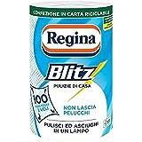 Regina Blitz Carta Casa, Confezione da 1 Rotolo, 100 Maxi-Fogli a 3 Veli, Confezione in Carta Riciclabile, Pulisci e Asciughi