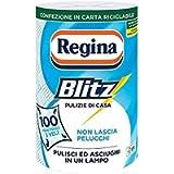 Regina Blitz Carta Casa, Confezione da 1 Rotolo, 100 Maxi-Fogli a 3 Veli, Confezione in Carta Riciclabile, Pulisci e…