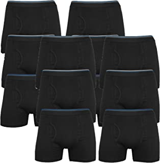 Mens Solid Boxer Shorts Trunks Gift Underwear Novelty Cotton Boxers with Pockets