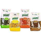 GOVINDA Goodel Nudel-Set 4 Sorten (4x 250g) Mungbohnen, Kichererbsen, Rote Linsen, Buchweizen (bio, vegan, glutenfrei) Set