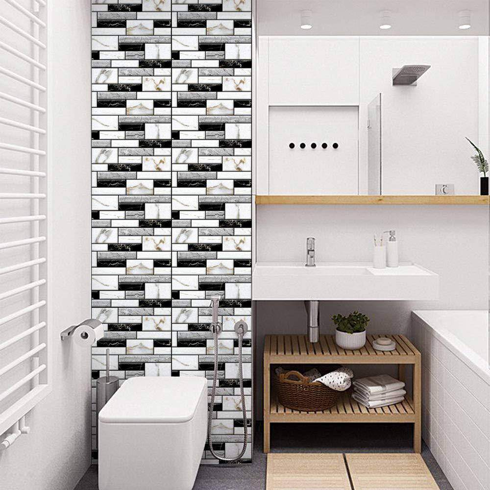 Muro Cucina Rivestimento.Fulllove Adesivi Piastrelle Muro 3d Pvc Mattonelle Auto