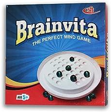 Kids Mandi Mind Challenging Super Quality Brainvita Board Game with 32 Marbles for Kids Brain Development