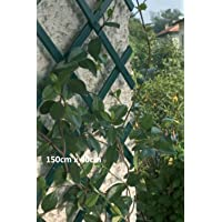 2 x Green Expanding Plastic Garden Trellis 180 X 40cm 1.8m New PVC Trellis