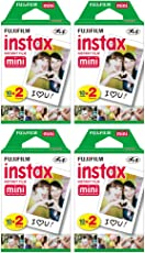 Fujifilm Instax Mini Instant Film (4 Twin Packs, 80 Total Pictures) for Instax Cameras