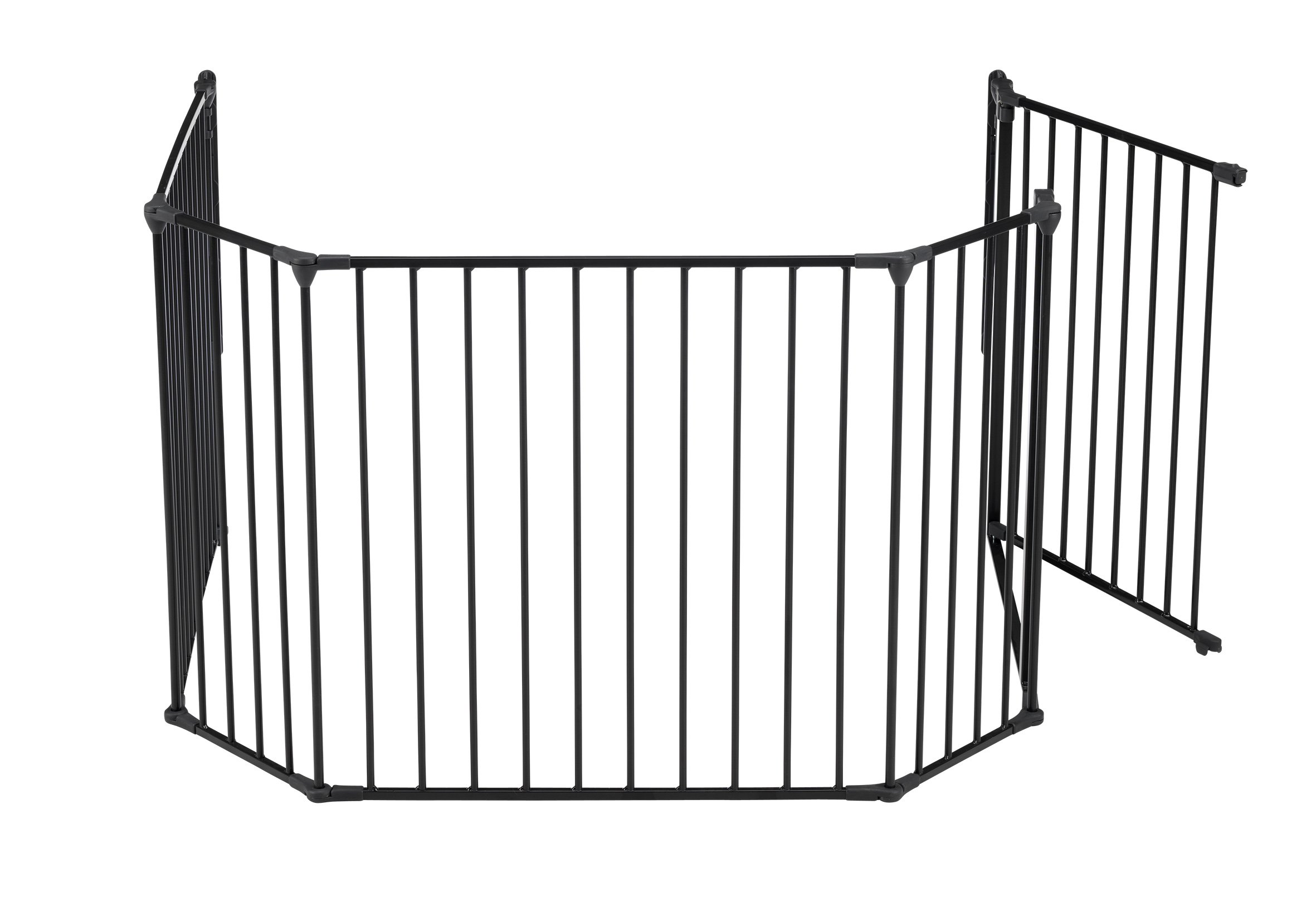 BabyDan Hearth Gate/Room Divider (Extra Large, 90-278cm, Anthracite)  Only configure system fulfilling newest european safety standard Multi purpose hearth gate and room divider There are 5 panels in total, 1 larger 72cm gate section panel, 2 larger 72cm panels and 2 smaller 33cm side panels. For shipping purposes, the 2 smaller side panels are connected by the interlocking pole 10
