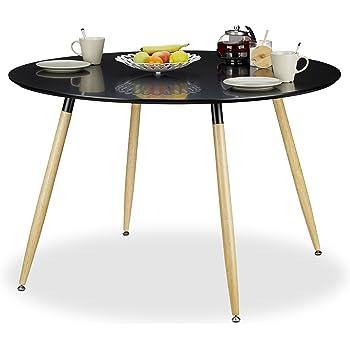 kavehome table oqui extensible ovale 120 200 cm naturel et blanc cuisine maison. Black Bedroom Furniture Sets. Home Design Ideas