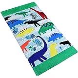 Baogaier Serviette de Plage Dinosaure - Serviette de Bain - 80 X 160 cm Vert Coton Grande Coverture de Plage Piscine Douce Ab