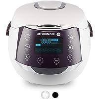 Reishunger Cuiseur de riz & cuiseur vapeur numérique blanc avec avec bol en céramique & - 12 programmes, technologie 7…