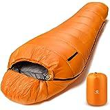Bessport Slaapzak winter | -10 °C - 7 °C outdoor mummieslaapzak voor kamperen en bergbeklimmen met ultralichte en ultracompac