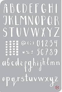 format 12 x 18 cm Pochoir pour bullet journal /« Calendrier /»