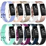 Amzpas Correa de reloj clásica de cuero genuino para Fitbit Inspire / Inspire HR