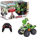Carrera RC Mario Kart Yoshi – Voiture radiocommandée – Quad téléguidé avec piles intégrées – Pour enfants à partir de 6 ans