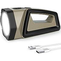 Coquimbo Torcia LED Ricaricabile, USB Impermeabile Torcia Lanterna, 2500LM 7200mAh Luce LED Portatile con 8 modalità for…