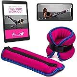 Poids de poignets et chevilles de 1 kg chacun + Francais eBook + Application Fitness