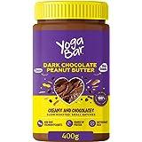 Yogabar Dark Chocolate Peanut Butter| Creamy & Chocolatey | Slow Roasted | Non-GMO Premium Peanuts | 400gm