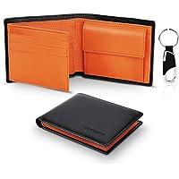 TEEHON® Portafoglio Uomo Slim Vera Pelle Blocco RFID, con Tasca Portamonete,2 Scomparti Banconote,10 Porta Carte di…