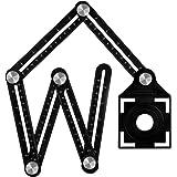 Righello di misurazione multi angolo, righello multifunzione realizzato in lega di alluminio Premium - Grande regalo per tutt