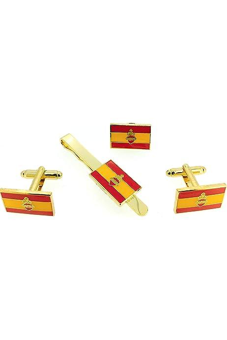MasGemelos - Gemelos Bandera Cruz de Borgoña Cufflinks: Amazon.es: Joyería