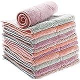 EQLEF Schotel Doek, 12 Stks Multifunctionele Keuken Handdoeken Dubbele Laag Verdikte Schaal Rag voor Wassen Met 2 haken