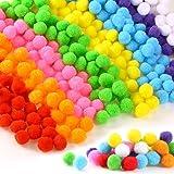 300 pièces Craft Pompons, Pompons Loisirs Creatifs, Multicolores Rondes Fils Chenille Enfant Artisanat Fabrication Loisirs Fo