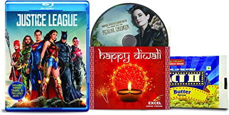 Justice League + Miss Peregrines Home For Peculiar Children - 2 English Movies (2 Blu-ray bundle offer)